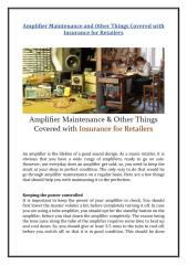 Amplifier Maintenance and Other Things Covered with Insurance for Retailers.pdf