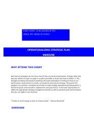 Operationalizing the Strategic Plan.docx