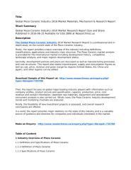 Global Piezo Ceramic Industry 2016 Market Research Report.pdf