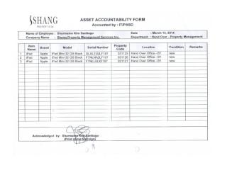 Asset accountability form- Sharmaine Kim Santiago 03-13-14.docx