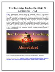 Best Computer Teaching Institute At Ahmedabad - TCCI.doc