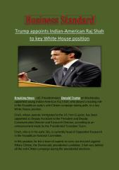 Trump appoints Indian-American Raj Shah to key White House position.pdf
