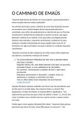 O CAMINHO DE EMAÚS.doc