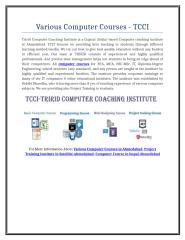 Various Computer Courses - TCCI.doc