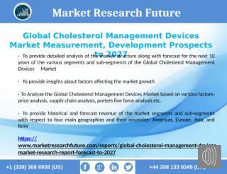 Global Cholesterol Management Devices Market 2027.pptx