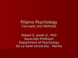 Filipino Psychology - Concepts and Methods.ppt