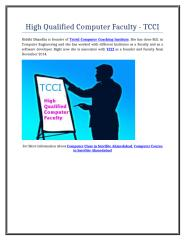 High Qualified Computer Faculty - TCCI.doc