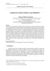 A gestão de resíduos urbanos e suas limitações.pdf