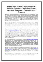 13Obtain Great Health In addition to Body - Personal trainer Singapore.doc