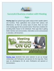 Successful Business creation with Meeting apps.docx
