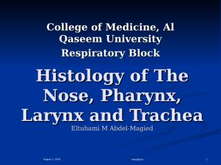 histology of the nose, pharynx and larynx.ppt